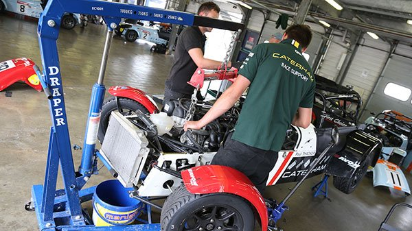 Caterham Motorsports Race Support Engineers