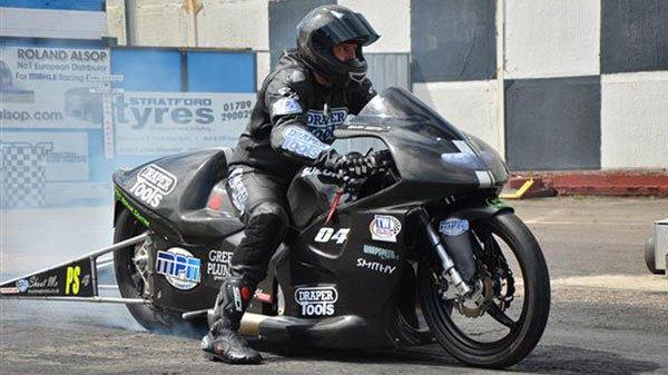 Draper Tools sponsored Mark Smith current Pro Stock Champion on his Suzuki 1755cc drag bike